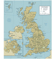 united kingdom map with selectable territories vector image vector image