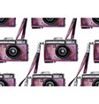 watercolor vintage camera pattern vector image vector image