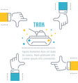 website banner and landing page tank vector image vector image