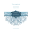 Winter card with lace vector image vector image