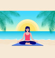 woman practice yoga vector image