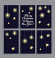set of card templates decorated with stars and vector image