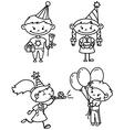 children birthday vector image