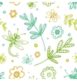 abstract seamless background flowers and insects vector image