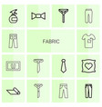 14 fabric icons vector image vector image