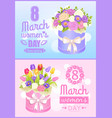 8 march love spring poster vector image