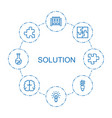 8 solution icons vector image vector image