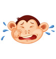 a monkey crying face vector image