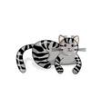 american shorthair cat in kawaii style vector image vector image
