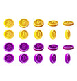 animation rotation orange and violet 3d vector image vector image