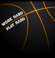 basketball text background vector image vector image