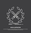 battle emblem game label swords icon line symbol vector image