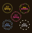 beauty floral labels hello spring collection vector image