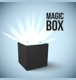 Black Box with magic lights vector image