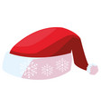 christmas hat icon vector image vector image