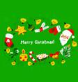 Christmas wreath winter seasonal greeting frame vector image