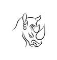 clean logo design that represent rhino vector image vector image