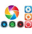 colorful Camera shutter aperture symbol vector image