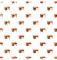computer desk pattern vector image vector image