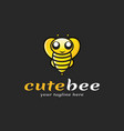cute bee logo vector image