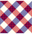 Diagonal plaid background vector image vector image