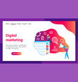 digital marketing lp template vector image