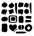 doodle set of speech bubble vector image vector image