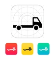 Empty truck icon vector image vector image