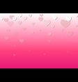 falling heart pink background vector image vector image
