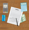 finance transaction tax vector image vector image