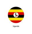 flag of uganda vector image vector image