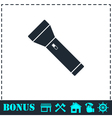 Flashlight icon flat vector image vector image