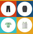 flat icon dress set of stylish apparel casual vector image