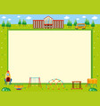 frame design with school and playground vector image vector image