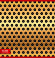 golden circle metal texture background vector image vector image