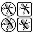 hairdresser symbols vector image vector image