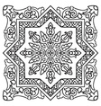 Hand drawing zentangle mandala element Italian vector image vector image
