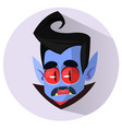 happy cartoon dracula head vector image vector image