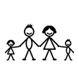 Happy stick family vector image vector image