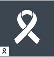 hiv ribbon icon vector image