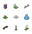 isometric urban set of dc memorial aiming game vector image vector image