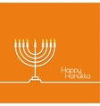 Jewish Menorah icon vector image