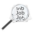 job seach vector image vector image