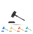 judge gavel icon isolated on white background vector image