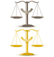 justice scale isolated on white background vector image