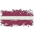 Latvian grunge tile flag vector image vector image