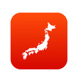 map of japan icon digital red vector image vector image
