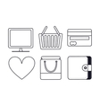 Media design Set of Silhouette icon vector image