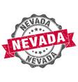 nevada round ribbon seal vector image vector image