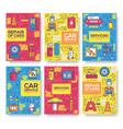 premium quality auto service brochure cards vector image vector image